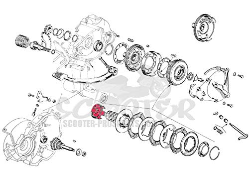 Kupplungskorb - Clutch bell basket - Vespa 50-90 - Ape - ET3 - PK - PKS 50-80 - 125