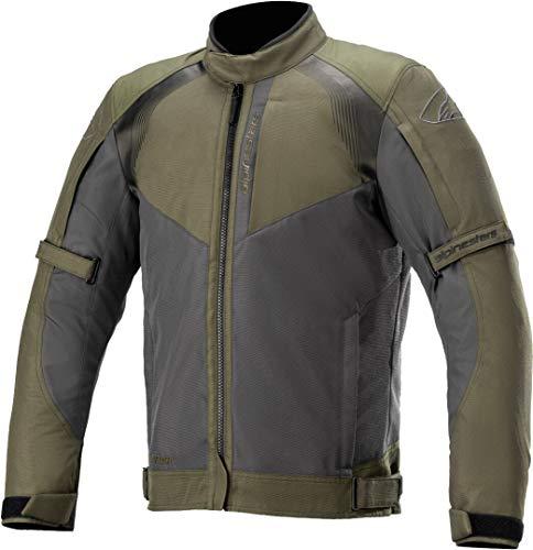 Alpinestars Headlands Drystar - Chaqueta textil para moto, color negro y verde oliva XXL