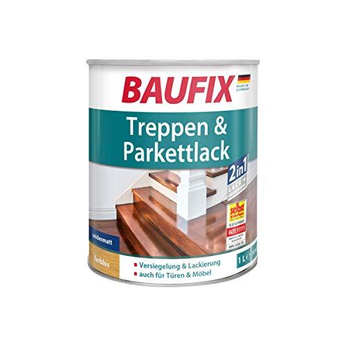 BAUFIX Treppen- & Parkettlack, farblos seidenmatt, 1L