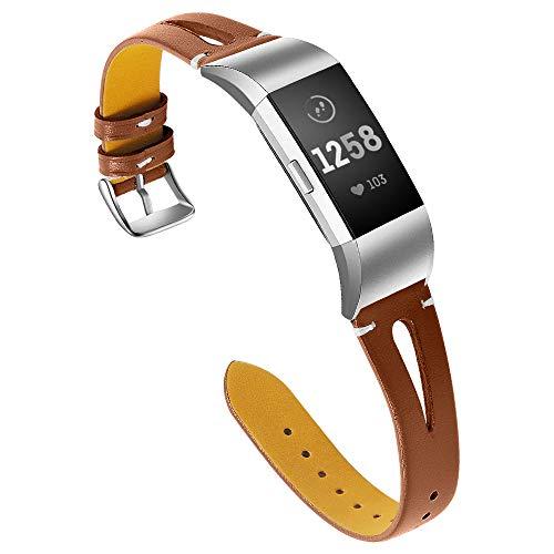Aottom für Armband Fitbit Charge 2, Armband Fitbit Charge2 Leder Armband Fitbit Charge 2 Lederarmband Gliederarmband Ersatzarmband Uhrenarmband Fibit Armband Charge 2 für Fitbit Charge 2