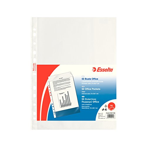 ESSELTE Buste perforate OFFICE - PPL lucido - f.to A4 - 395011300
