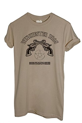 MUSH T-Shirt Supernatural Winchester - Film by Dress Your Style - Uomo-L-Sabbia