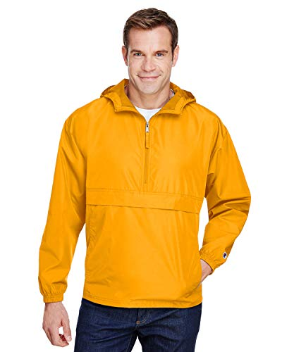 Champion Adult Packable Anorak 1/4 Zip Jacket 3XL GOLD