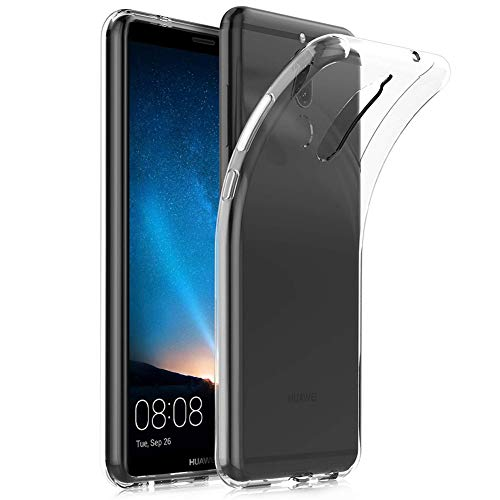 Amonke Coque Huawei Mate 10 Lite, Ultra Clair TPU Silicone Transparent Souple Housse Etui Coque pour Huawei Mate10 Lite [Ultra Fine/Ultra Léger] [Anti Choc/Anti-Scratch]