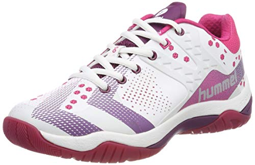 Hummel Damen DUAL PLATE POWER WS Multisport Indoor Schuhe, Weiß (White 9001), 39 EU