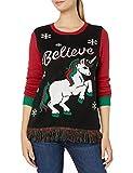 Einhorn Believe Weihnachtspullover