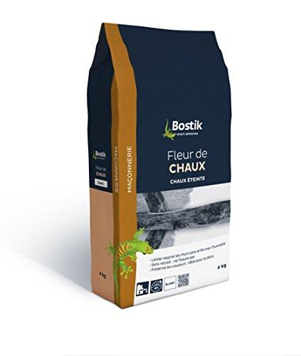 Bostik 30125342 Fleur de Chaux/Sac Papier 4 kg Isolation anti-humidité, Blanc