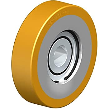 PrimeMatik Lenkrollen Schwenkrollen Industriell Rad aus Nylon und PVC ohne Bremse 34 mm M8 5 Pack