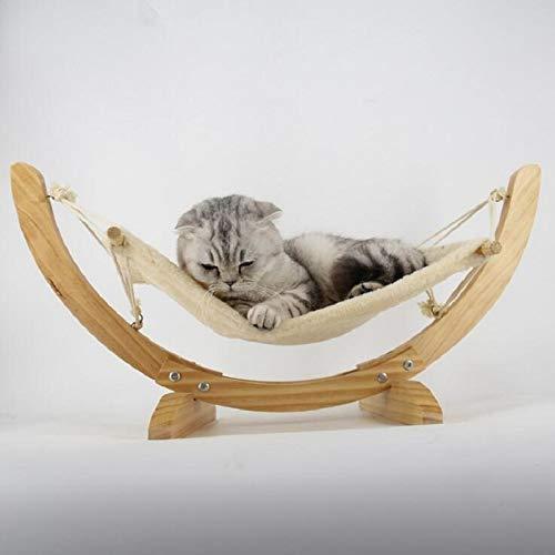 ZXL Houten handgemaakte kat bed kat hangmat wieg mat schommel hond bed puppy deken huisdier bed huisdier product kat speelgoed slapende hangmat