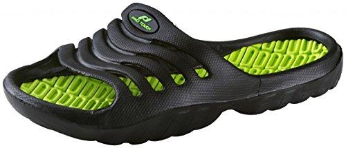 Pro Touch Kinder Badesandale Pamplona Badeschlappen Badelatschen , Schuhgröße:29;Farbe:Schwarz/Grün