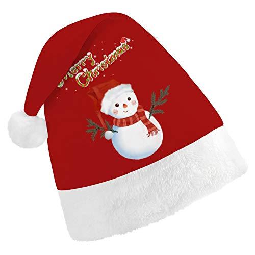 Zozgetu Erwachsene Weihnachtsmütze, Plüsch Weihnachtsmütze drucken Weihnachtsmütze Unisex Hut Weihnachtsdekoration Hut Christmas Xmas Hat