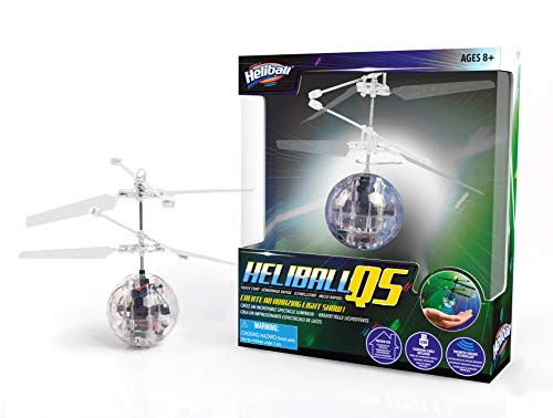 WOW! STUFF HB-1016 Heliball QS Patentierte Hover-Technologie, LED-Lichtshow