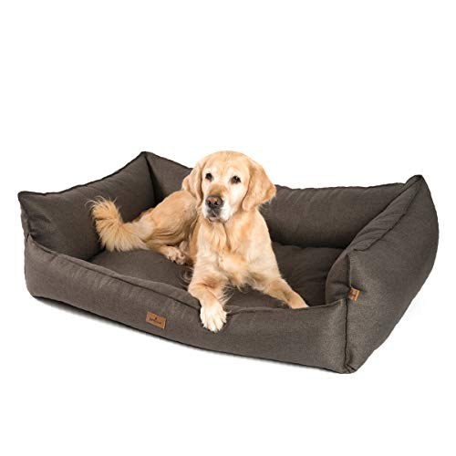 JAMAXX Premium Hundebett - Orthopädisch Memory Visco Füllung, Extra-Hohe Ränder,...