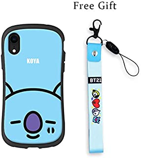 BTS Cell Phone Cases Kpop Full Cover Protected Slim for iPhone, Raised Corners, Gifts for Army Daughter (RM, for iPhone XR)