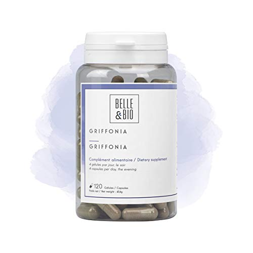 Belle&Bio - Griffonia 5-HTP - 120 gélules - 80 mg/Gélule - Bonne humeur - Fabriqué en France