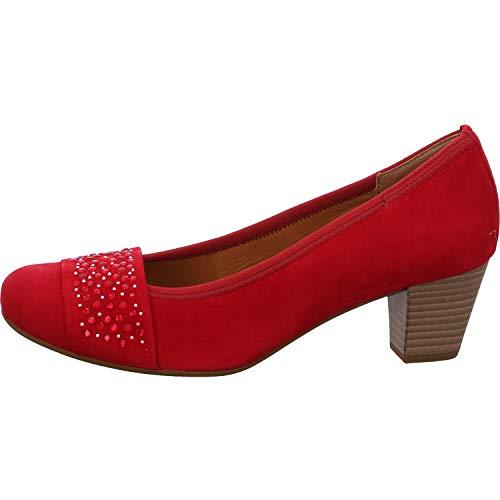 Gabor Damen Pumps, Frauen Elegante Pumps,Best Fitting,Soft & Smart, Court-Shoes Absatzschuhe Abendschuhe stöckelschuhe,Rubin,42 EU / 8 UK