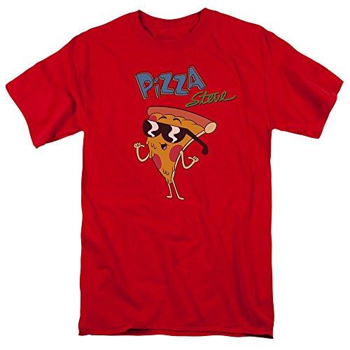 Uncle Grandpa - Maglietta da uomo Pizza Steve Rosso S