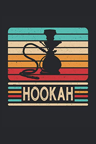 Hookah: Vintage retro water pipe shisha vape gifts notebook lined (A5 format, 15. 24 x 22. 86 cm, 120 pages)