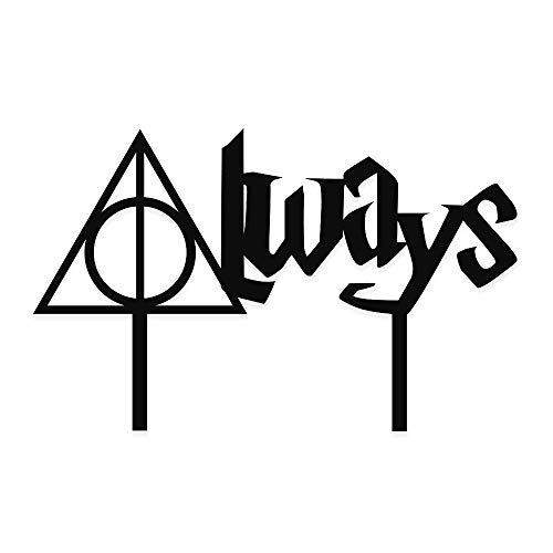 Acrylic Art Design Always Cake Topper for Weddings Harry Potter Inspired Always
