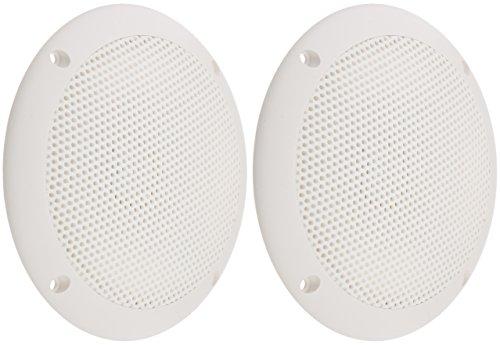 "PQN Enterprises ECO50-4W Waterproof Ultra-Slim RV Marine Speaker, White, 5"""