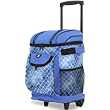 Travelers Club 18' Cool Carry Insulated Rolling Cooler, Shibori