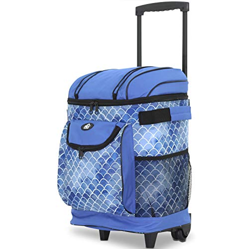 """Travelers Club 18"""" Cool Carry Insulated Rolling Cooler, Shibori"""