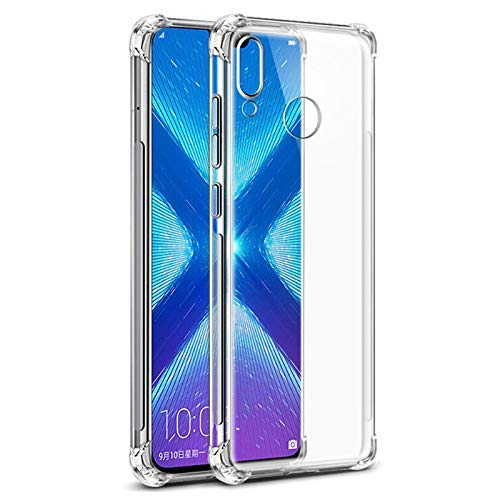 Amazon Brand – Solimo Mobile Cover (Soft & Flexible Shockproof Back Cover with Cushioned Edges)Transparent for Honor 8X
