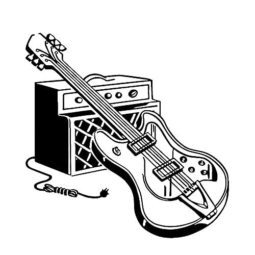 Guitarra eléctrica grabadora de instrumentos musicales música Rock vinilo pegatina de pared...
