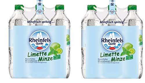 12 Flaschen Rheinfels Quelle Limette Minze Mineralwasser a 750ml inklusive EINWEG Pfand