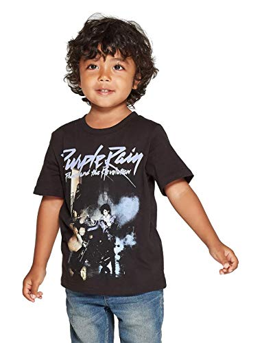 Bravado Toddler Boys' Classic Rock Band Prince Purple Rain Short Sleeve Graphic T-Shirt (Black) (12M)