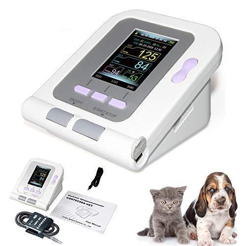 CONTEC08A-VET Digital Veterinary Blood Pressure Monitor, Dog/Cat/Pets (CONTEC08A-VET with Neonatal Cuff)