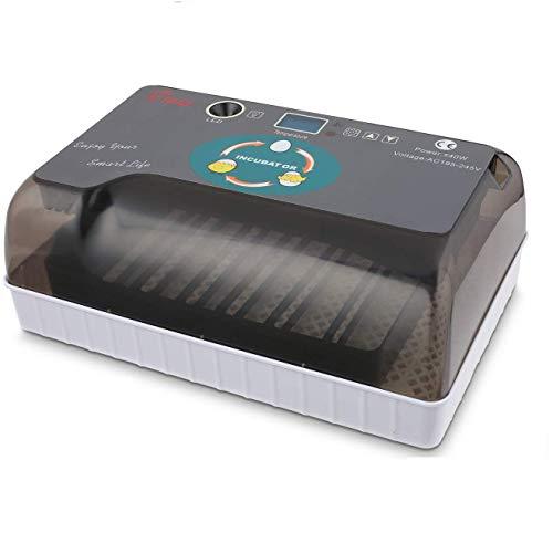 Brutmaschine Vollautomatische, 12 Eier Inkubator mit Feuchtigkeitsregulierung und integriertem Eierumkehrer zum Ausbrüten von Gänsen, Vögeln und Hühnern