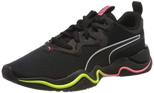 Puma Damen Zone Xt WNS Sneaker, Schwarz Black-Ignite Pink Silver, 40.5 EU
