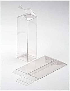 """ClearBags 2"""" x 2"""" x 6"""" Clear Holiday Gift Boxes   Clear PET Plastic Boxes for Christmas Weddings Parties   Party Favor Boxes for Ornaments Gifts Candy Cookies   Food Safe PLB137A   25 Boxes"""