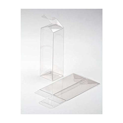 """ClearBags 2"""" x 2"""" x 6"""" Clear Holiday Gift Boxes 