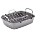 "Circulon 56539 Nonstick Bakeware Roaster with U-Rack, 17""x13"", Silver (Renewed)"