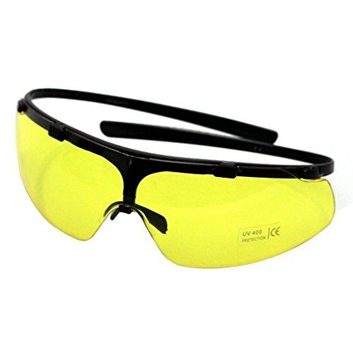 Stabile Oramics Sonnenbrille mit gelber Tönung - Softair / Arbeits / Fahrrad / Sport Brille Softair Brille
