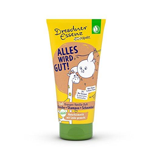 Dresdner Essenz Dreckspatz Duschgel ALLES WIRD GUT, 4er Pack (4 x 200 ml)
