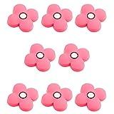 Batop 10Pcs Pomelli per mobili per cameretta bambini, motivo fiori rosa, 41 x 41 x 23 mm 4,1 x 4,1 x 2,3 cm 8pcs