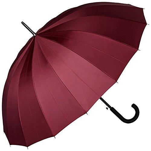 VON LILIENFELD Paraguas Mujer Hombres Automática Grande 16 segmentos Devon borgoña