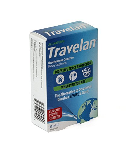 Travelan 70538 OTC Natural Colostrum Dietary Supplement, 10-Day Pack, 30-Caplets