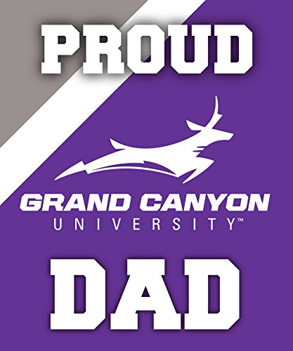 R and R Imports, Inc Grand Canyon University Lopes NCAA Collegiate 5x6 Inch Rectangle Stripe Proud Dad Decal Sticker