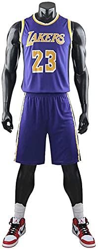 CPBY Camiseta de baloncesto para niños de verano de baloncesto retro uniforme 2 conjuntos tops y pantalones cortos, camiseta/chaleco, C, M