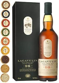 Lagavulin 16 Jahre Islay Single Malt Whisky mit 9 Edel Schokoladen in 9 Sorten
