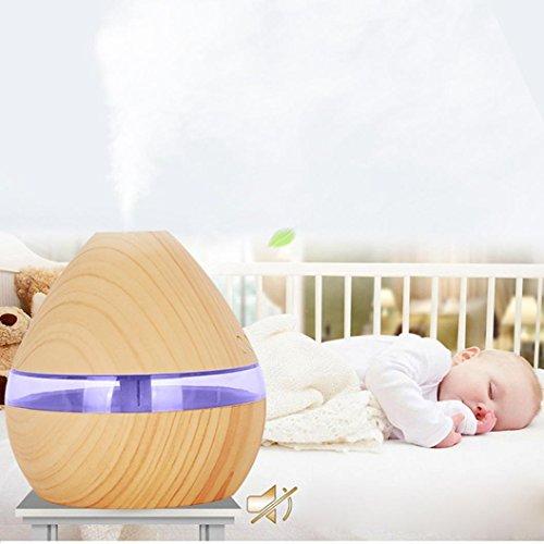 STRIR 300ml Humidificador Aromaterapia Ultrasónico,Difusor de Aceites Esenciales, LED,Seguro y Elegante, purificar el aire y mejorara el aire seco (Amarillo)