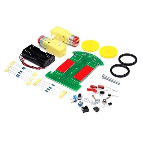 HYY-AA 3PCS Mini Robot de rastreo electrónico del Coche DIY Kit Motor reducción con, Panel Solar Velocidad del Motor