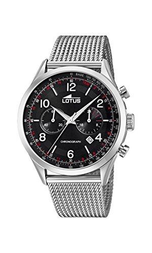 Lotus Watches Reloj Cronógrafo para Hombre de Cuarzo con Correa en Acero Inoxidable 18555/2