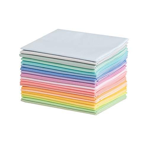 Connecting Threads Color Wheel Premium Patchwork-Stoffpaket, vorgeschnitten, Fat Quarters (weicher Regenbogen)