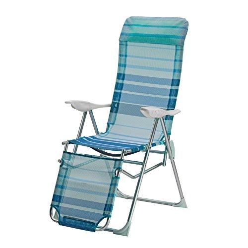 DEMA Alu Relaxsessel Sunnyvale blau gestreift