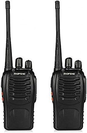 Baofeng BF-888S UHF 400-470MHz CTCSS/DCS With Earpiece Handheld Amateur Radio Walkie Talkie Two Way Radio Long Range (Black, 2 Pack)